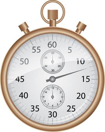 chronometer: Bronze stop watch, vector illustration