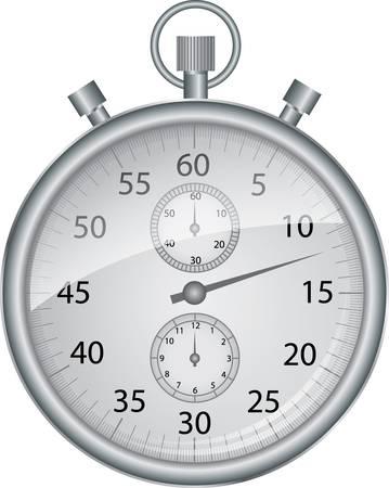stop watch: Silver vector stop watch, vector illustration
