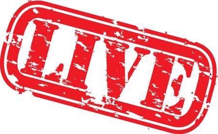 Grunge sellos en vivo, ilustración vectorial