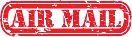 Grunge air mail rubber stamp, illustration Vector Illustration
