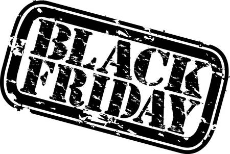Grunge black friday rubber stamp, vector illustration  Vector