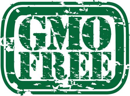 Grunge gmo free rubber stamp, vector illustration  Vector