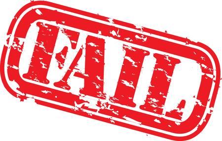 Grunge fallire timbro di gomma, illustrazione vettoriale