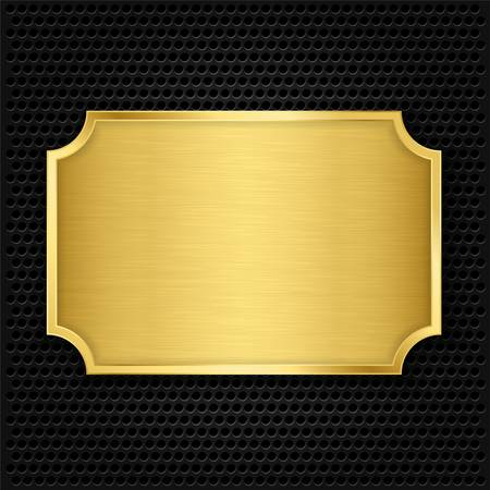 Gouden textuur plaat, vectorillustratie