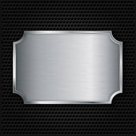 Metalen structuur plaat, vectorillustratie Stock Illustratie