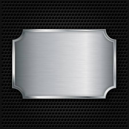 Metal texture plate, vector illustration  Illustration