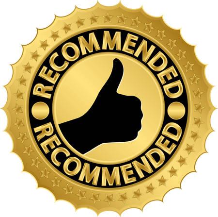 Recommended golden label illustration