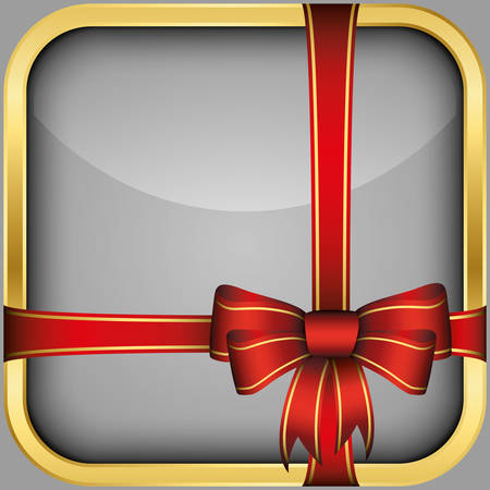 App icon with gift bow, vector illustration Vector