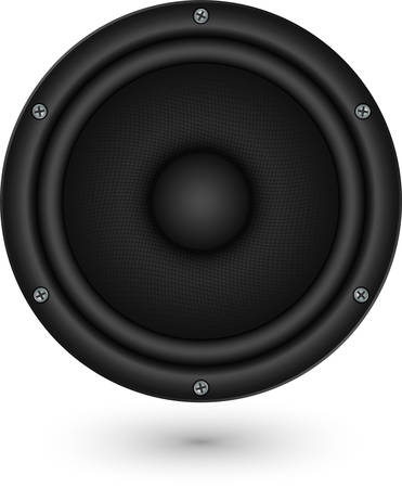 Audio speaker app icon, vector illustration  Vector