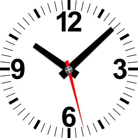 Analog clock icon, vector illustration