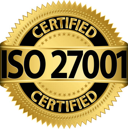 iso: ISO 27001 certified golden label