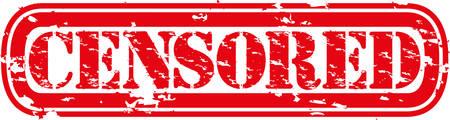 censor: Censored grunge rubber stamp, vector illustration