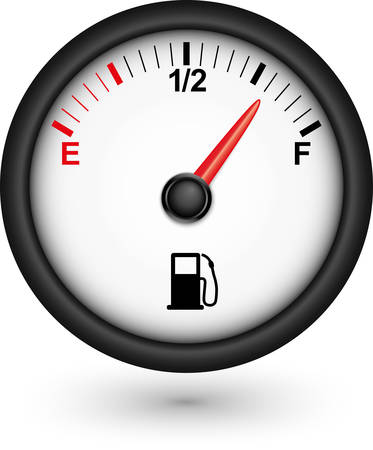 gases: Car fuel gauge, vector illustration  Illustration