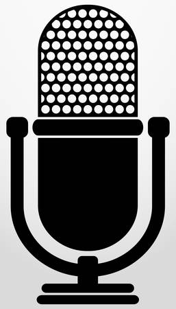 Retro microphone icon, vector illustration  Vector