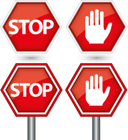 Stop sign, vector illustration Vector