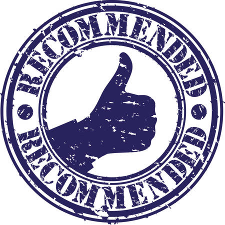 recommended: Recommended grunge rubber stamp, vector illustration