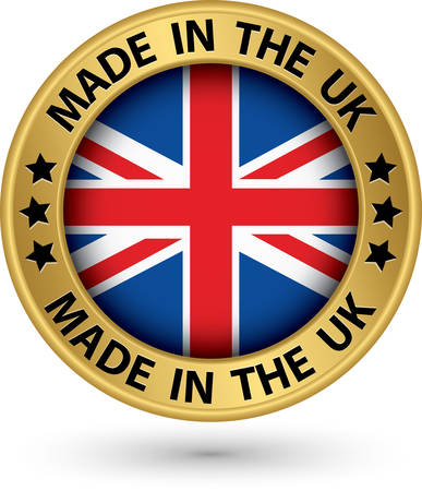 Made in the UK gold label, vector illustration Vector