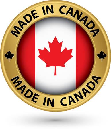 カナダの金のラベルで作られて、ベクトル イラスト  イラスト・ベクター素材
