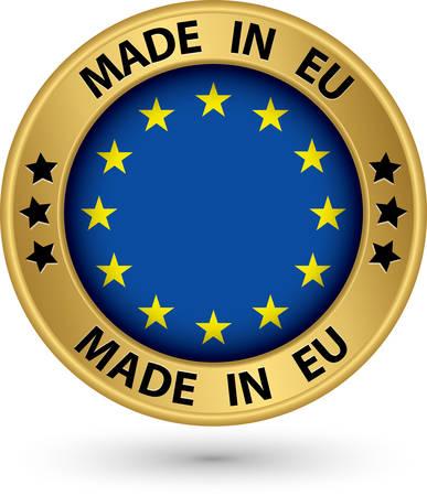 ヨーロッパの金ラベルで作られて、ベクトル イラスト  イラスト・ベクター素材