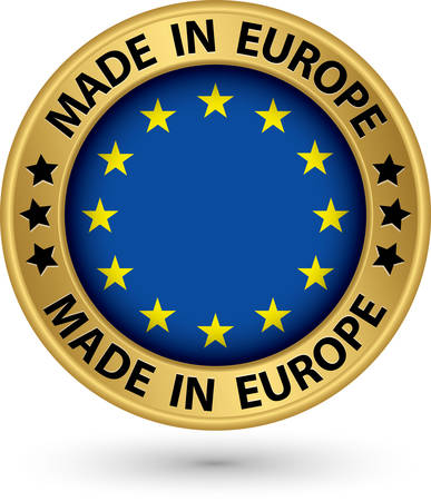 Made in Europe gold label, vector illustration Vector