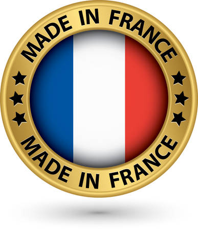 Made in France gold label, vector illustration Vector