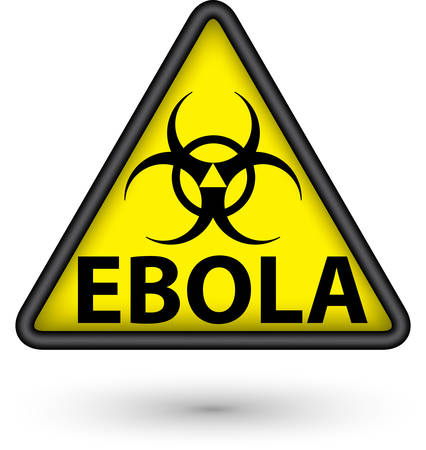 Ebola virus alert sign Vector