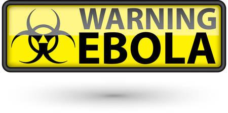 virus alert: Ebola virus alert sign Illustration