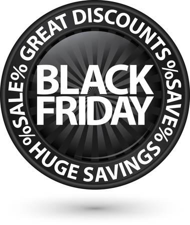 Black friday huge discounts icon, vector illustration Vector