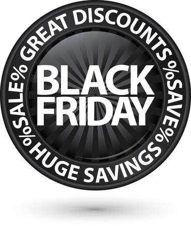 Black friday huge discounts icon, vector illustration Vector