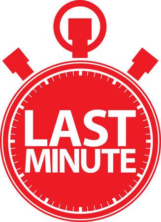 last minute: Last minute stopwatch icon, vector illustration Illustration