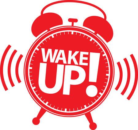 awakening: Tax time alarm clock red icon, vector illustration