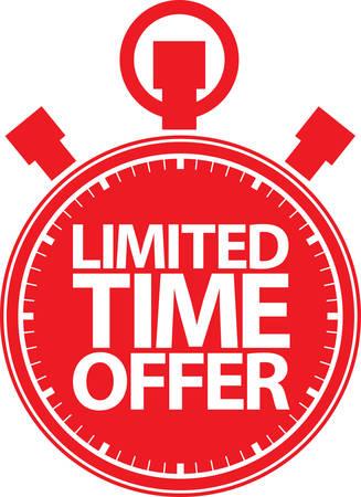 big timer: Limited time offer red label, vector illustration