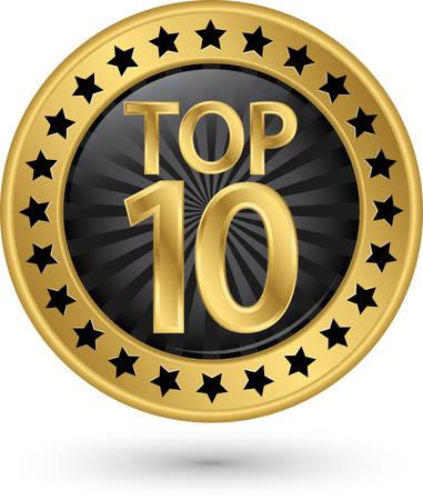 Top 10 golden label, illustration