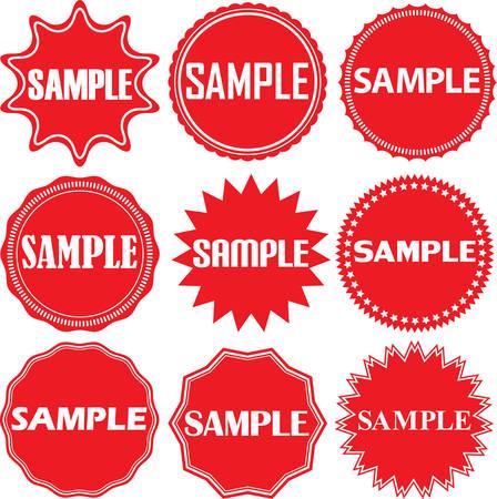 vector sample: Sample signs set. Sample sticker set,  Vector illustration