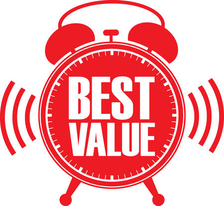 Best value rode wekker, vector illustratie
