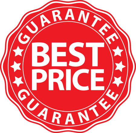 seal of approval: Best price guarantee red sign, vector illustration Illustration