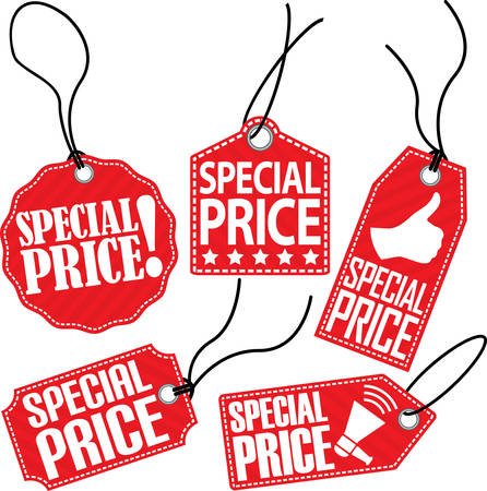 special price: Special price tag set, vector illustration Illustration