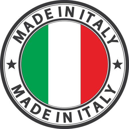 made in italy: Made in Italy label with flag, vector illustration