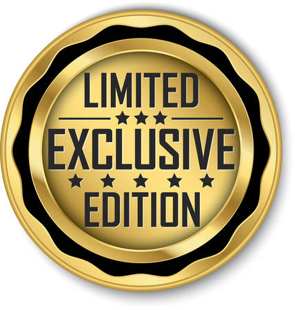 Exclusive limited edition gold label, vector illustration