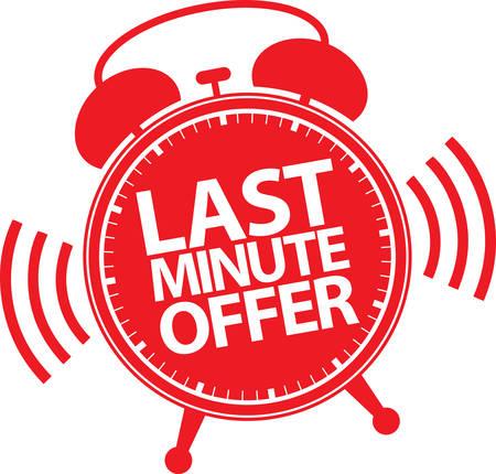 Last minute offer alarm clock icon, vector illustration 向量圖像