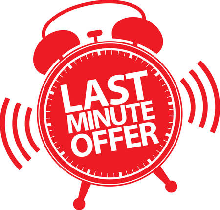 Last minute offer alarm clock icon, vector illustration Illustration