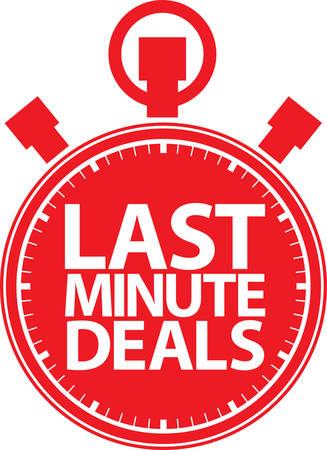 Last minute deals stopwatch icon, vector illustration