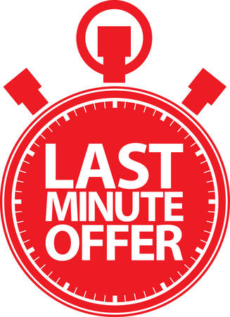 Last minute offfer stopwatch icon, vector illustration Illustration