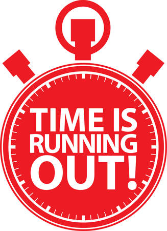 Time is running out stopwatch icon, vector illustration