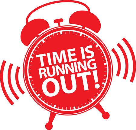 El tiempo se está acabando el icono del reloj de alarma, ilustración vectorial Ilustración de vector