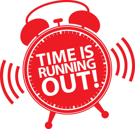 Time is running out alarm clock icon, vector illustration Illustration