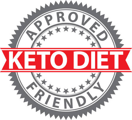 Keto diet friendly sign, keto diet friendly badge, vector illustration