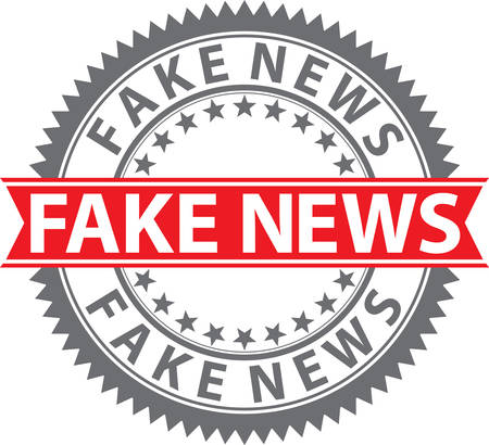 Fake news sign, fake news  badge, vector illustration 向量圖像