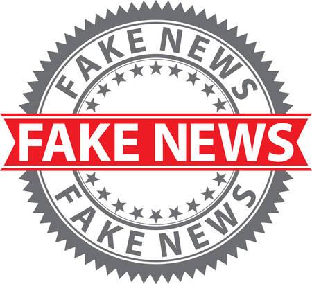 Fake news sign, fake news  badge, vector illustration Illustration
