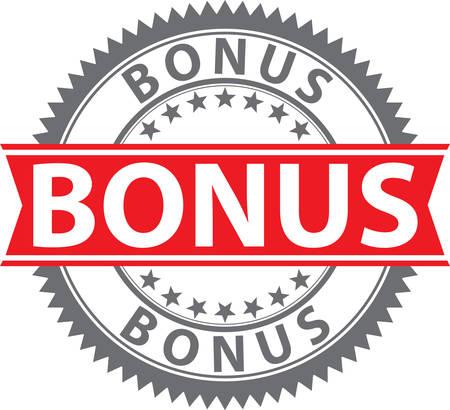 Bonus sign, certified badge, vector illustration 向量圖像